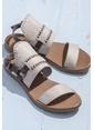 Elle Deri Sandalet Gri